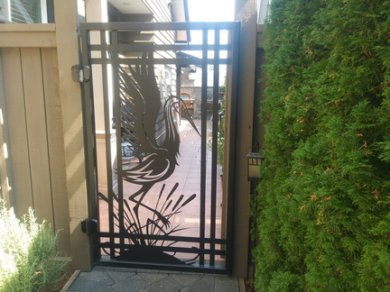 Plasma Cut Garden Gate